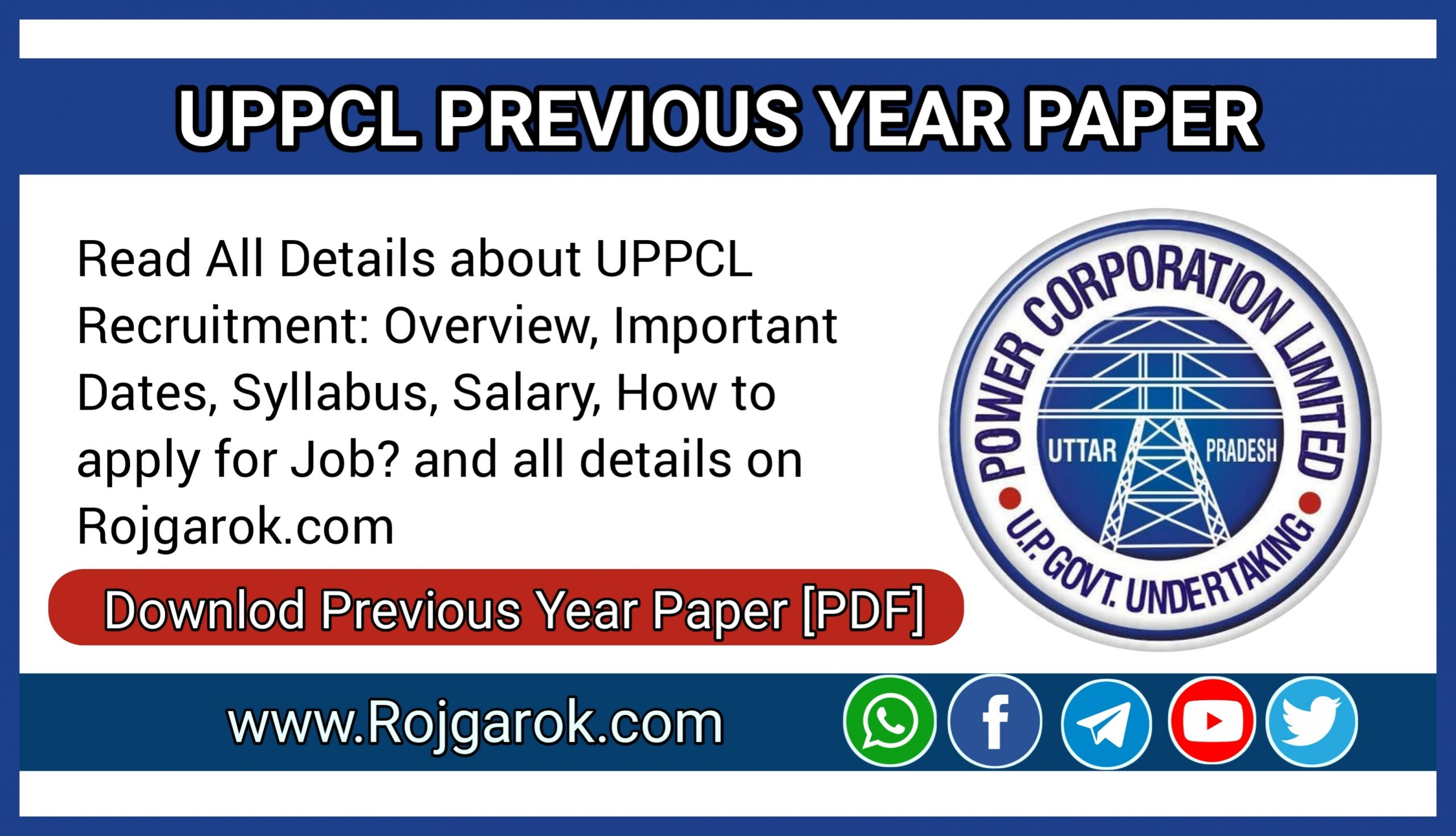 UPPCL Previous Year Paper 2021