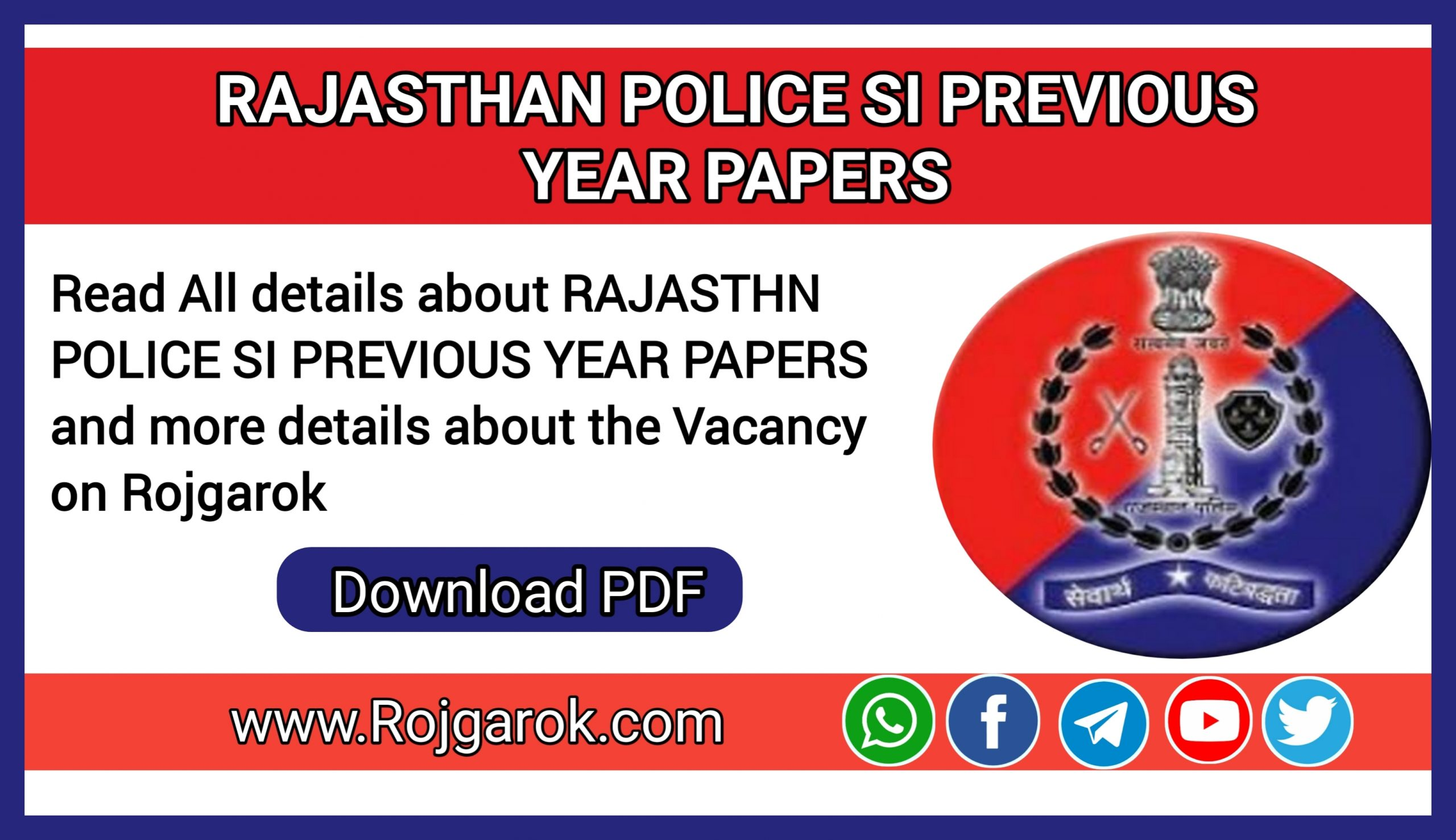 Rajasthan Police SI Previous Year Papers
